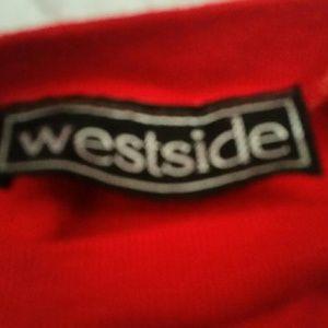 Weatside Tops - Westside Red Sweatshirt Jr. Size Medium